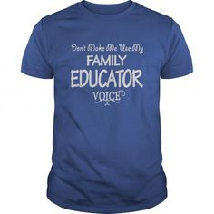Family Educator Voice Shirts - #shirt print #hoodie fashion. BUY TODAY AND SAVE => https://www.sunfrog.com/Jobs/Family-Educator-Voice-Shirts-Royal-Blue-Guys.html?68278
