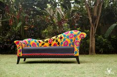 Flowers Charm Sofa by BirBor on Etsy