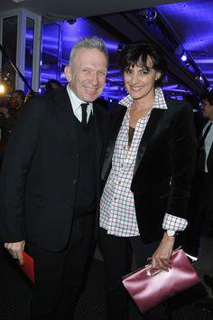 Jean Paul Gaultier and Ines de la Fressange pose. (Gala Dinner 2013 at Pavillon d'Armenonville in Paris)