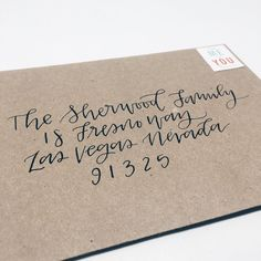 Envelope Calligraphy and Lettering by Wanderlove Press | Made in USA