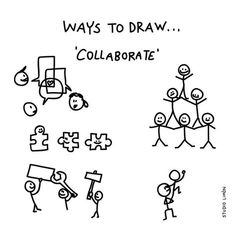 186 vind-ik-leuks, 2 reacties - Studio Limón (@studiolimonillustrations) op Instagram: 'Teamwork. Word of day 8: collaborate. . . #365waystodrawfestival #collaborate #cooperate…'