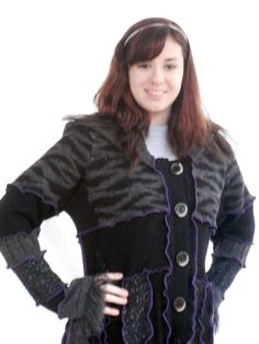 Jam Custom Designs UpCycled SweatCoat with by JamCustomDesigns, $235.00