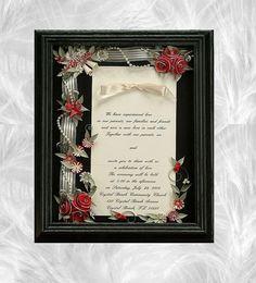 Framed wedding invitation wedding shadow by ALLINVITATIONSFRAMED