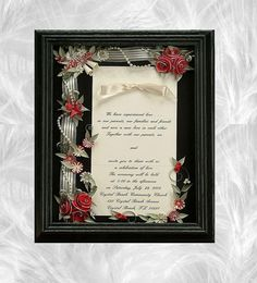 These framed shadow boxes make beautiful anniversary and/or wedding gift for the…