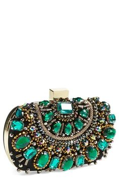 Free shipping and returns on Natasha Couture Beaded Minaudière at Nordstrom.com. Steal the evening scene with this eye-catching minaudière that features dazzling stones set off by glittering crystals and beads. An optional drop-in chain strap allows for maximum styling versatility.