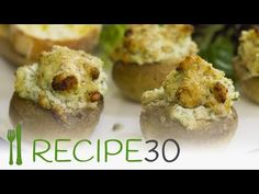 Goat Cheese Filled Mushrooms – Easy Meals with Video Recipes by Chef Joel Mielle – RECIPE30
