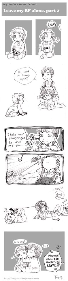 Sadyna's Blog - Baby!Sherlock fan Comic, Leave My BF Alone, part 2.  Okay. I officially adore this.