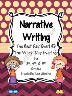 With this narrative writing packet students will enjoy writing real or imaginary stories about their best day ever or their worst day ever. Paragraph Writing, Narrative Writing, Informational Writing, Writing Process, Worst Day, Best Day Ever, Brainstorming Activities, Writing Resources, Writing Ideas