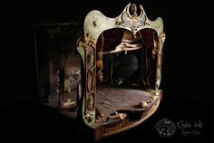 The theater by Rebeca Cano ~ Cookie dolls, Toy Theatre, Musical Theatre, Teatro Musical, Princesa Zelda, Dark Circus, Dream Theater, Film Inspiration, Scenic Design, Finger Puppets