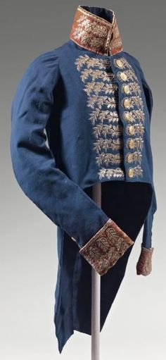 Surgical costume from the imperial guard of Napoleon (Navy).