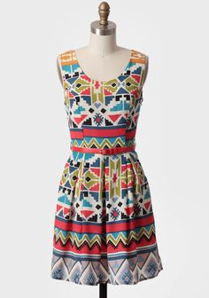 Albuquerque Belted Dress 52.99 at shopruche.com. A colorful southwestern pattern adorns this silky ivory dress featuring a removable red belt. Finished with front box pleats, a scoop neck, and a hidden side zipper closure, this delightful dress pairs well with wedges or flats all spring and summer. Fully...