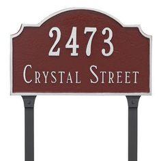 Montague Metal Products Vanderbilt Standard Two Line Address Plaque Finish: Antique Copper/Copper