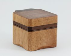 Wooden Ring Box made from Queensland Maple and Jarrah. Great for Wedding/Engagement Rings. by TheWarawoodShed on Etsy