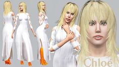 Gaga in Chloé Spring 2014 pleated Tie Detail Dress by ArtSims - Sims 3 Downloads CC Caboodle