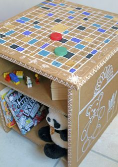 Customised cardboard furniture - low-cost, practical and fun for kids!