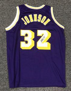 Magic Johnson  32 Signed Lakers Jersey AUTO Sz XL JSA WITNESSED COA HOF   Basketball 937e91251