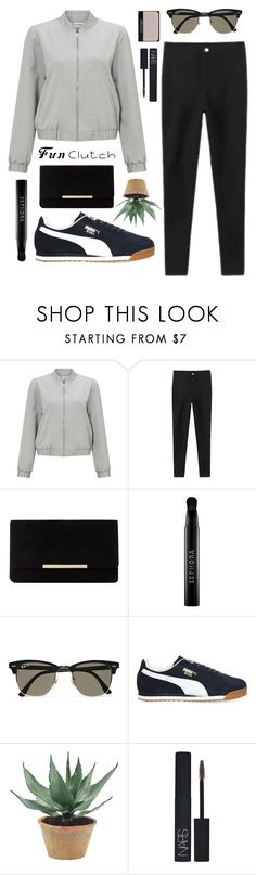"""""""Untitled #105"""" by mackenzie-craig ❤ liked on Polyvore featuring Miss Selfridge, Dune, Sephora Collection, Ray-Ban, Puma, NDI and NARS Cosmetics"""