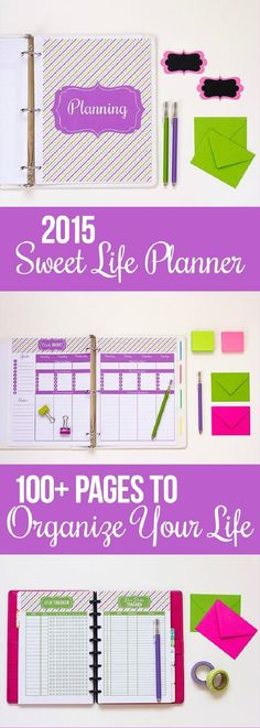 2015 Sweet Life Printable Planner - 16 Well Ordered DIY Planner and Journal Tutorials | GleamItUp