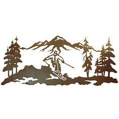 Skier Metal Art | Skier Metal Wall Art