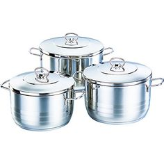 Korkmaz Astra Stainless Steel Capsulated Cookware Set With Stainless Steel Lid - 6 Piece