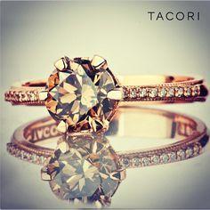 rose gold brown diamond ring - Google Search