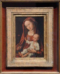 Rogier van der Weyden - Virgin with carnation Гент. Decorative Borders, Carnations, Mona Lisa, Van, Artwork, Painting, Work Of Art, Auguste Rodin Artwork, Painting Art