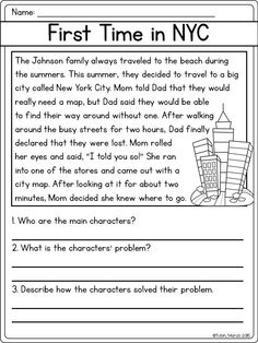 for kids Reading Comprehension Worksheets – Best Coloring Pages For Kids preschool 2nd Grade Reading Comprehension, Third Grade Reading, Comprehension Activities, Reading Fluency, Reading Passages, Reading Skills, Reading Response, Reading Levels, Reading Worksheets