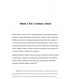 """Week 1 DQ 1 Fabian's Story Read Fabian's story in the """" Human Behavior and Community Macro Systems: Sociopsychological Perspective"""" section of your textbook. Briefly describe the sociopsychological perspective and compare it to at least one… (More) Leadership Theories, Learning Theory, Parenting Styles, Human Behavior, S Stories, Textbook, Perspective, At Least, Abs"""
