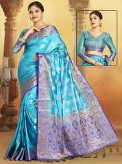 India's leading sarees store offers the online shopping of designer saree. Grab the art raw silk weaving work blue designer traditional saree. Lehenga Saree, Sari, Indian Sarees Online, Stylish Sarees, Casual Saree, Art Silk Sarees, Work Sarees, Traditional Sarees, Party Wear Sarees
