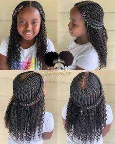 2019 Lovely Stunning Braids for Kids - kids braided hairstyles - Black Girl Braided Hairstyles, Black Kids Hairstyles, Girls Natural Hairstyles, Baby Girl Hairstyles, African Braids Hairstyles, Natural Hair Styles, Toddler Hairstyles, Children Braided Hairstyles, African Hairstyles For Kids