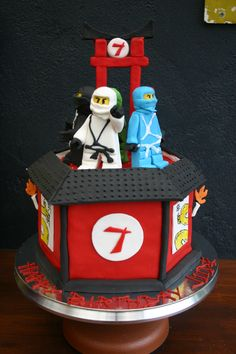 Ninjago Cake figurines - $20 each Single tiered 8 inch cake - approx $150 with fondant work Total - $230