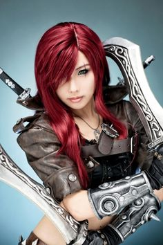 League of Legends ~ Katarina ... I admit it. I don't know anything about League of Legends...but I love her!