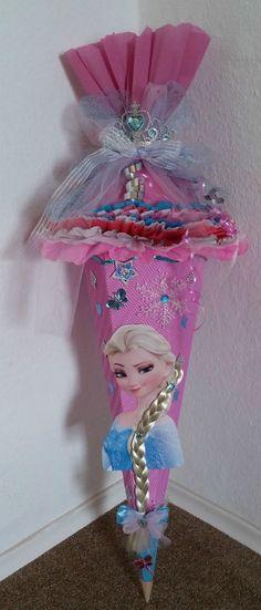Schultüte Zuckertüte Mädchen Frozen Eiskönigin Elsa Handarbeit Unikat