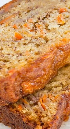 Easy Banana Carrot Bread Recipe - Averie Cooks - Carrot Banana Bread Best Picture For snack recipes For Your Taste You are looking for something, - Bread Cake, Dessert Bread, Dessert Recipes, Vegan Desserts, Quick Dessert, Healthy Cake Recipes, Banana Carrot Bread, Carrot Loaf, Banana Bread Muffins