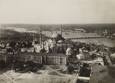 ✿ ❤ Bir Zamanlar İstanbul, Beyazıt Kulesi'nden Süleymaniye'ye bakış (1920'li yıllar?)