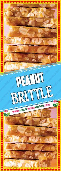 PEANUT BRITTLE Via #SimpleMomsKitchenCom #desserttable #PEANUT #BRITTLE #cake #dessertrecipes #cookies