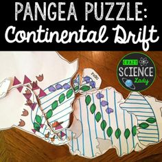 Pangea puzzle. Perfect for middle school!