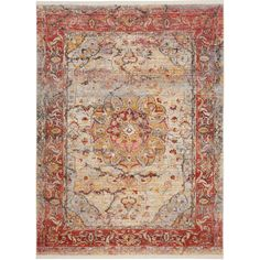 Safavieh Vintage Persian Pink/ Multi Polyester Rug (8' x 10') | Overstock.com Shopping - The Best Deals on 7x9 - 10x14 Rugs