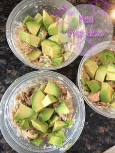 Low calorie low carb snacks Low calorie low carb snacks Tuna Mayo seasoning onion celery avacado 3 containers 50 grams of protein and less than 225 calories each I eat this So good High Protein Low Carb, Low Carb Lunch, High Protien Foods, Low Calorie Meal Prep Lunches, Meal Prep For The Week Low Carb, High Protein Lunch Ideas, High Protein Meal Prep, 100 Calorie Snacks, Best Meal Prep