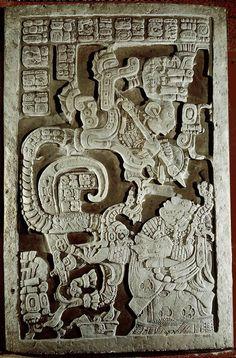 YaxchilanLintel 25, Structure 23.Yaxchilán. Chiapas, Mexico. Maya. 725 C.E. Limestone (architectural complex).