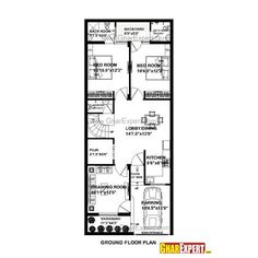 House Plan For 21 Feet By 50 Feet Plot Plot Size 117