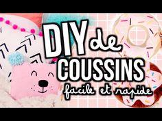 DIY DE COUSSINS - facile et rapide!   Emma Verde Diy Crafts For Boyfriend, Diy Gifts For Girlfriend, Diy Gifts For Kids, Diy For Kids, Diy Dog Wash, Diy Dog Bed, Emma Verde Diy, Diy Jewelry Holder Tree, Diy Bags Hanger