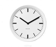 Zegar ścienny - Karlsson - Metal Spun white