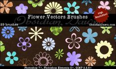 Flower Vectors Brushes by redheadstock.devi...
