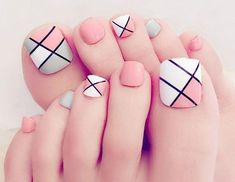 Pretty Toe Nails, Cute Toe Nails, Toe Nail Art, My Nails, Acrylic Toe Nails, Pink Toe Nails, Nail Nail, Matte Nails, Stiletto Nails