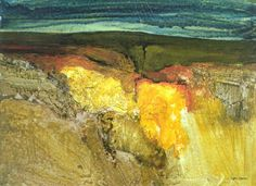 'Swaledale' by John Blockley. One of the most beautiful, inspiring places in the world by an outstanding UK artist and teacher who is sorely missed. Watercolor Landscape, Abstract Watercolor, Abstract Landscape, Landscape Paintings, Watercolor Paintings, Watercolors, Abstract Art Images, Inspirational Artwork, Contemporary Landscape