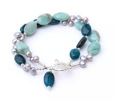 Winter Blues Bracelet Stocking Stuffer Gift for by InspiredTheory