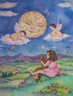 'Angel Child'  Original watercolour by Amanda Wright