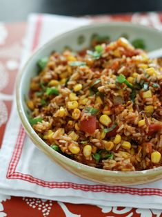 Mexican Wild Rice Recipe | AggiesKitchen.com - Easy, and can be done in the rice cooker - Try fresh tomatoes, garlic and peppers - Gluten free, Feingold and Clean Eating (if cans ok or use fresh ingredients)