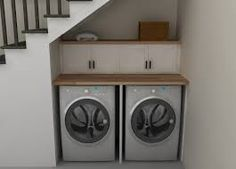 laundry room under stairs